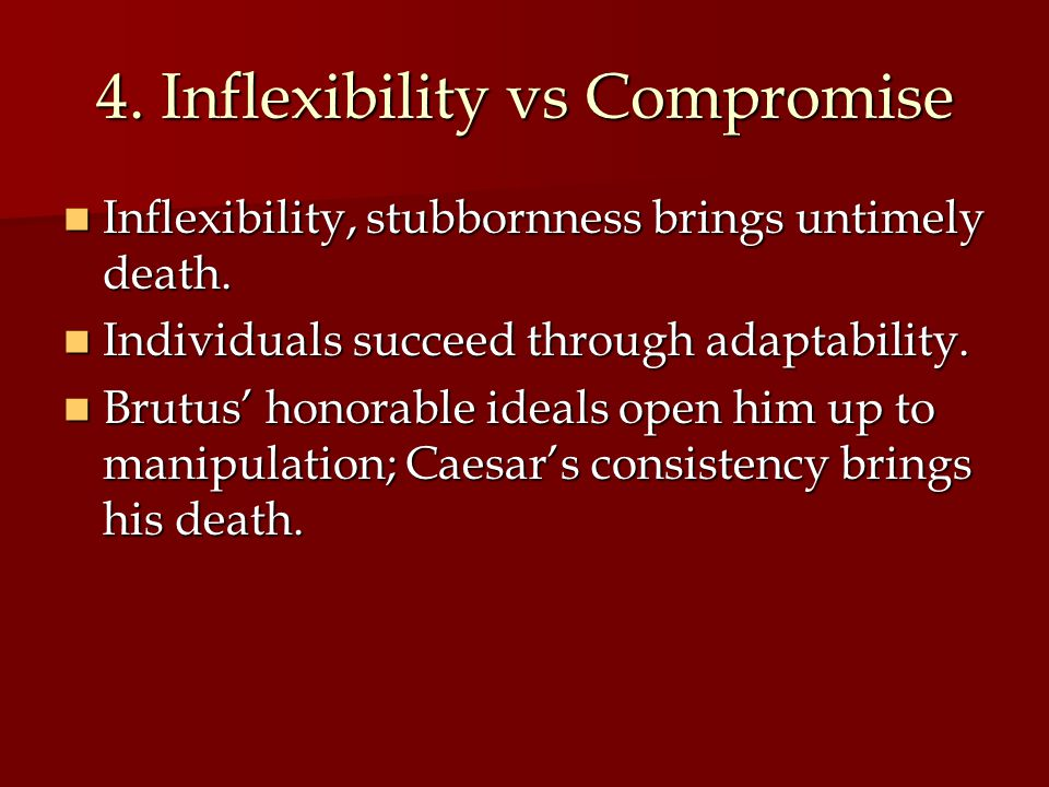 4. Inflexibility vs Compromise