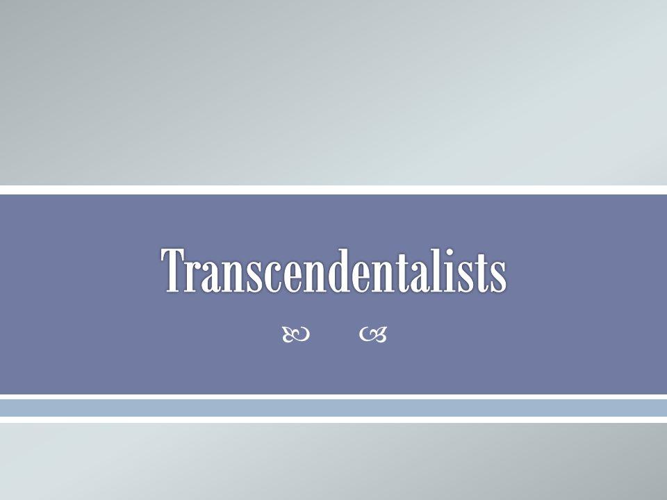 Transcendentalists