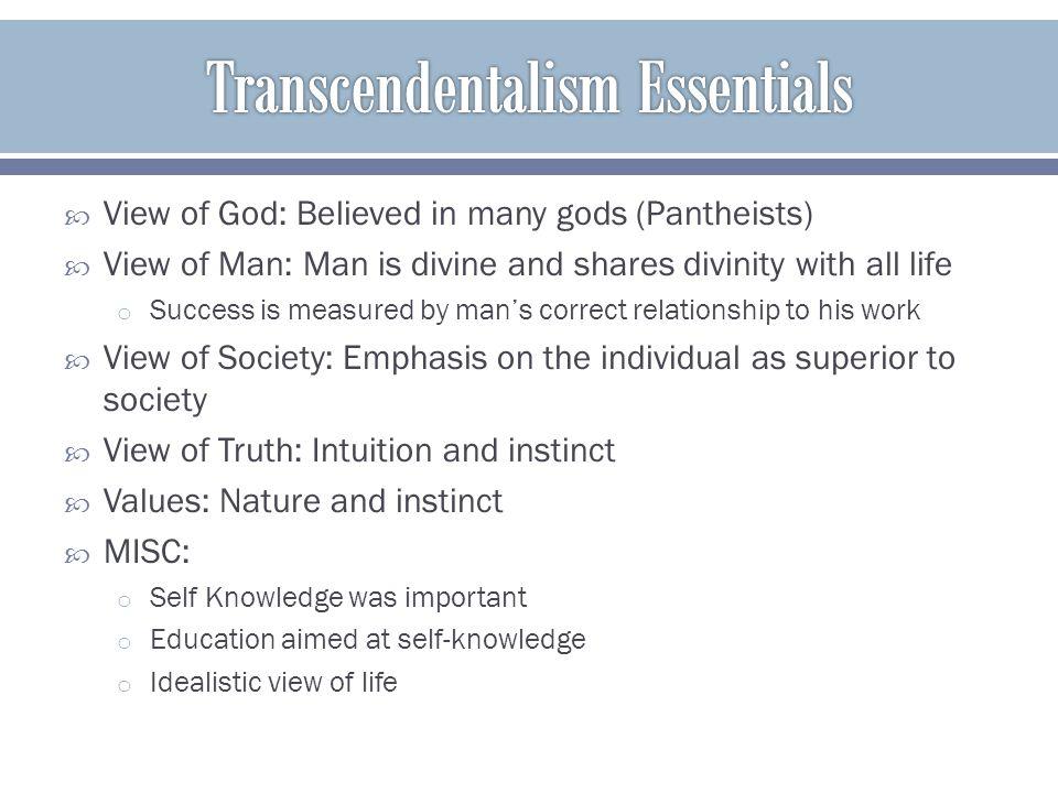 Transcendentalism Essentials