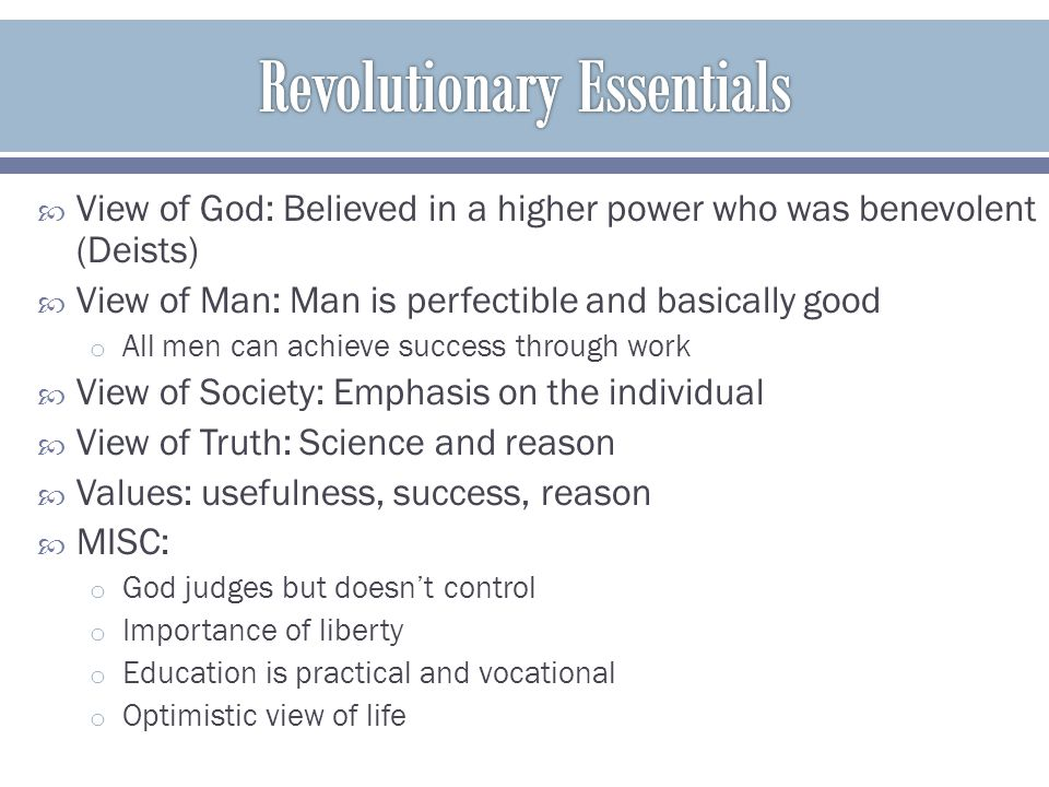 Revolutionary Essentials