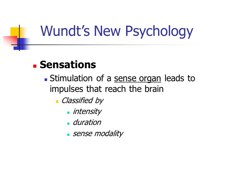 Wundt's New Psychology