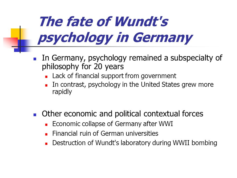 The fate of Wundt s psychology in Germany