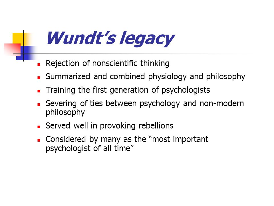 Wundt's legacy Rejection of nonscientific thinking