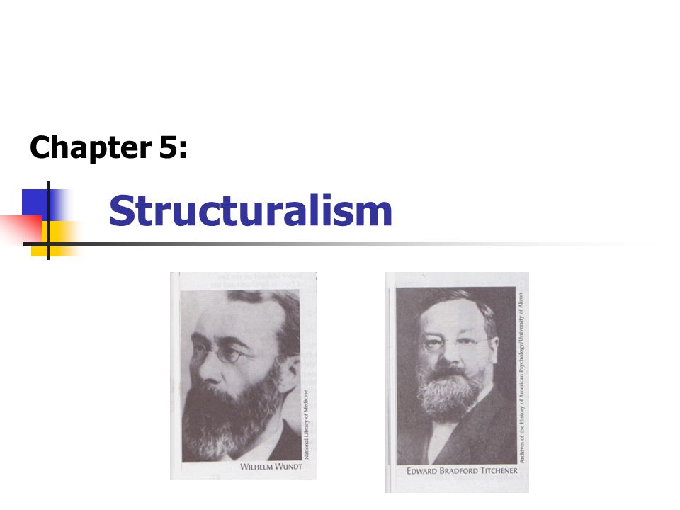 Structuralism Chapter 5: Very similar in manner to Wundt,