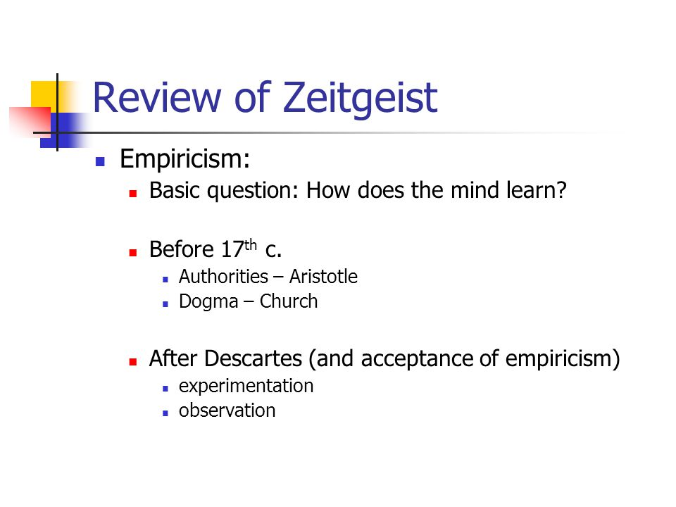 Review of Zeitgeist Empiricism:
