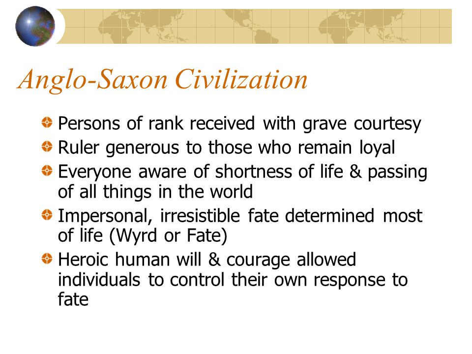 Anglo-Saxon Civilization