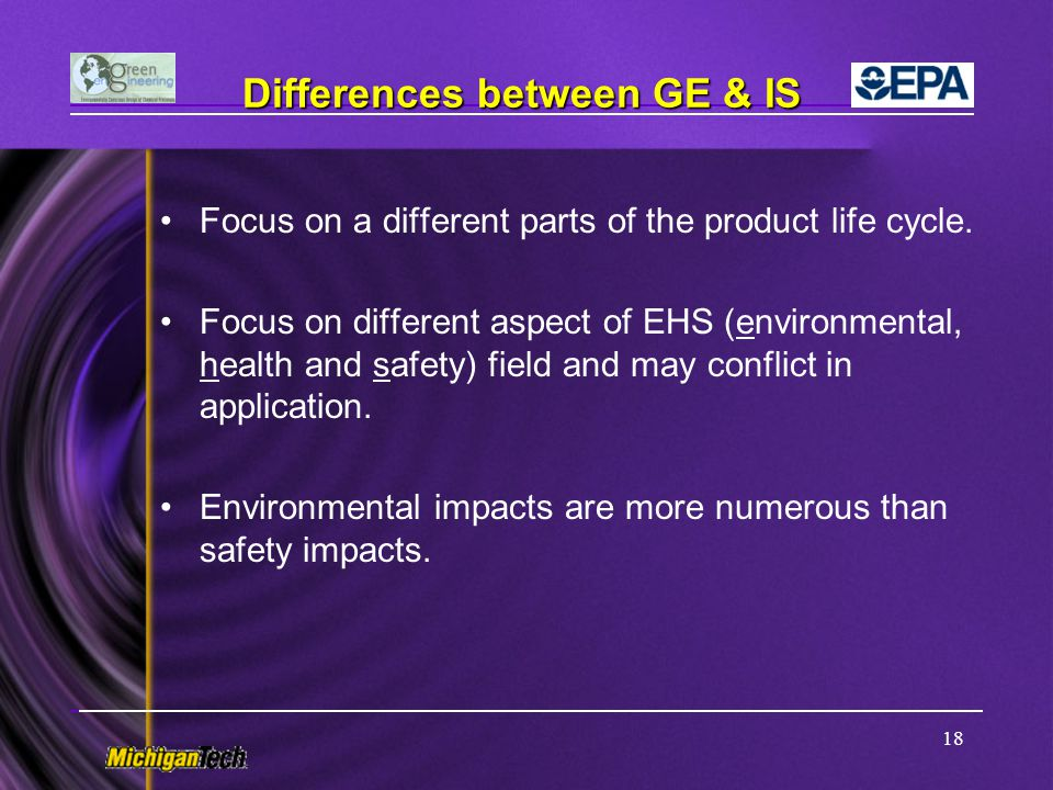 Differences between GE & IS