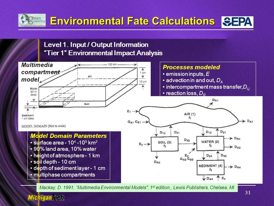 Environmental Fate Calculations