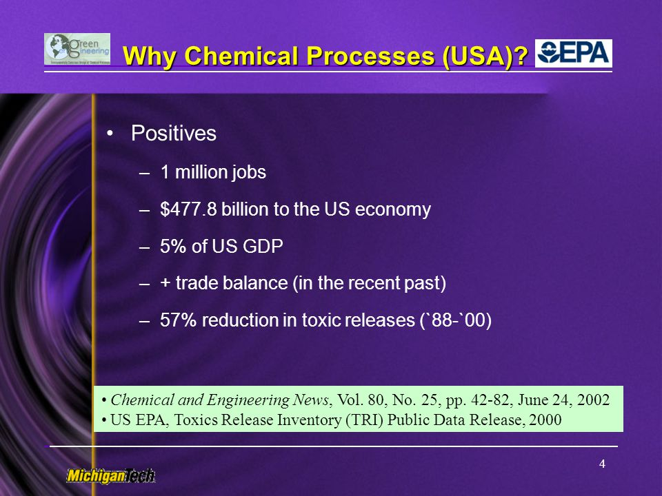 Why Chemical Processes (USA)