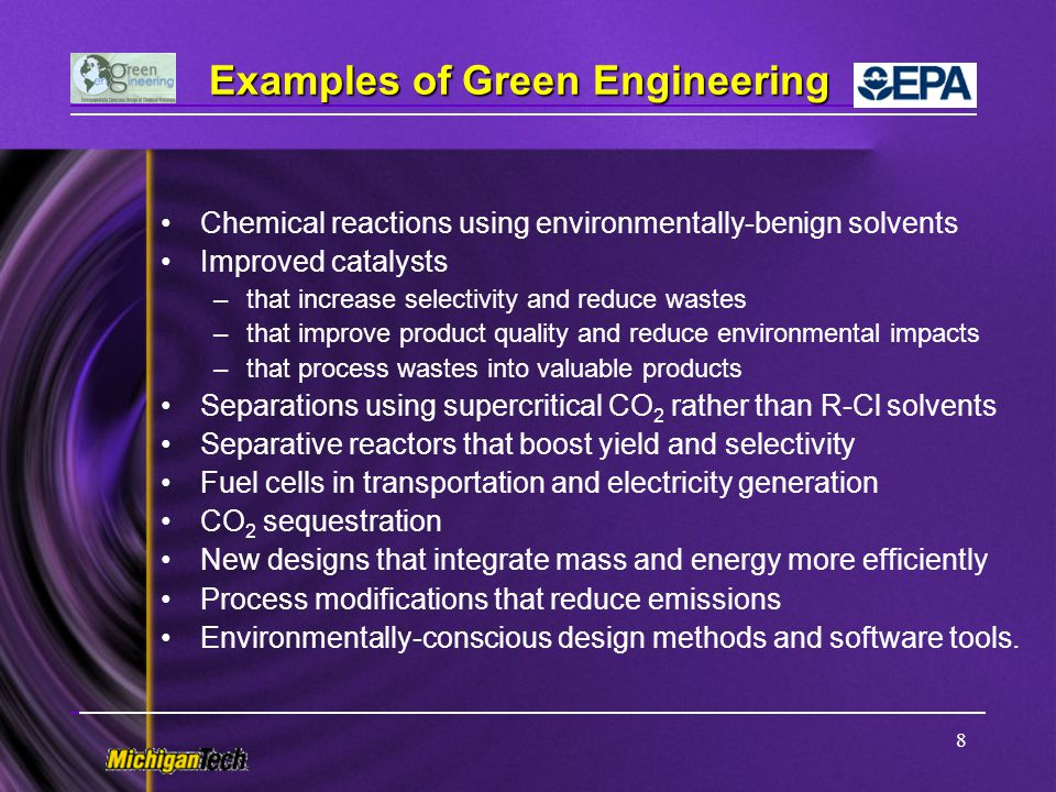 Examples of Green Engineering