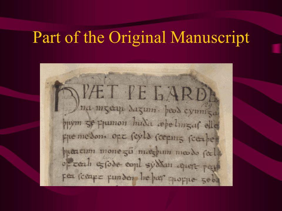 Part of the Original Manuscript