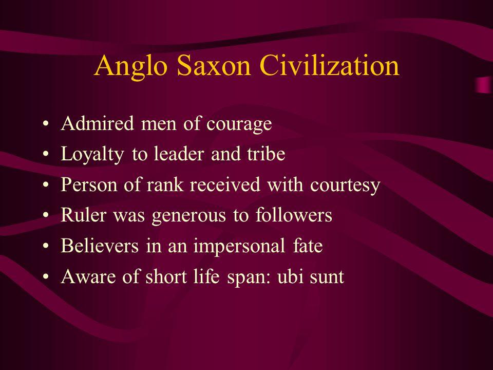 Anglo Saxon Civilization