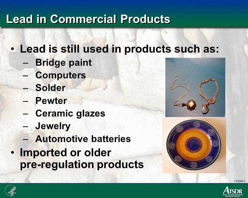Lead in Commercial Products