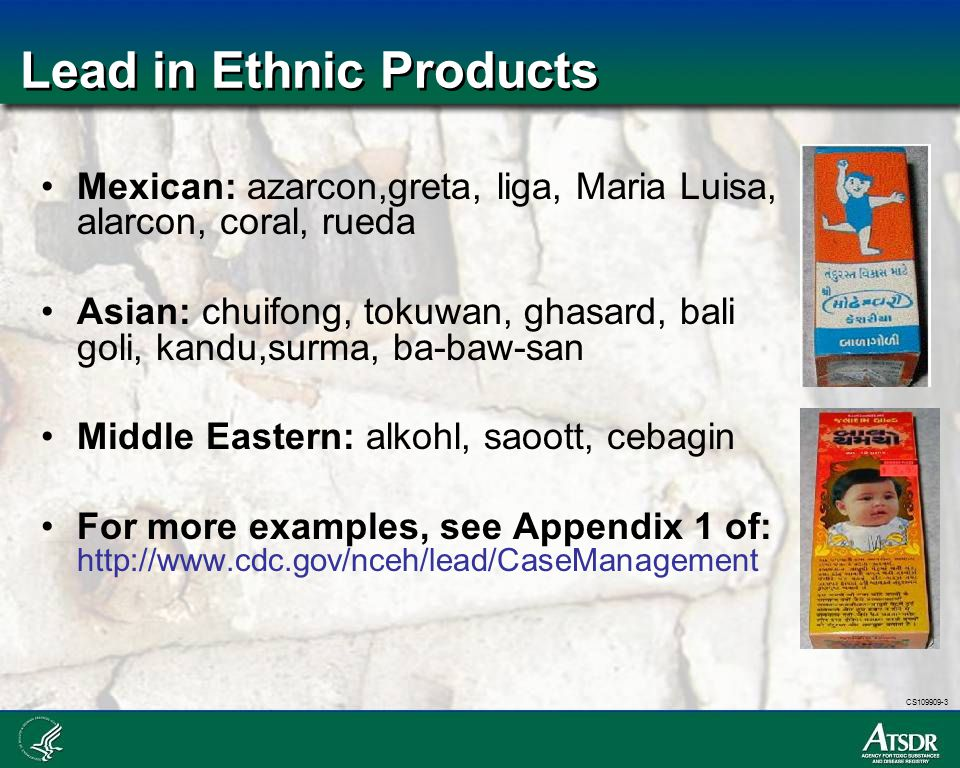 Lead in Ethnic Products