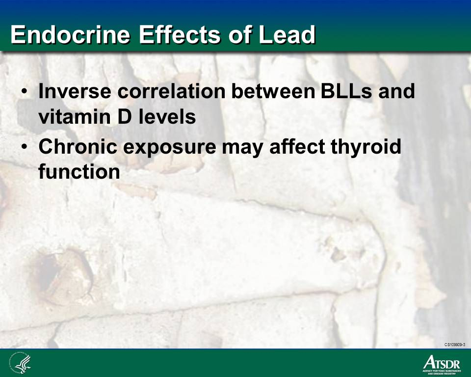Endocrine Effects of Lead