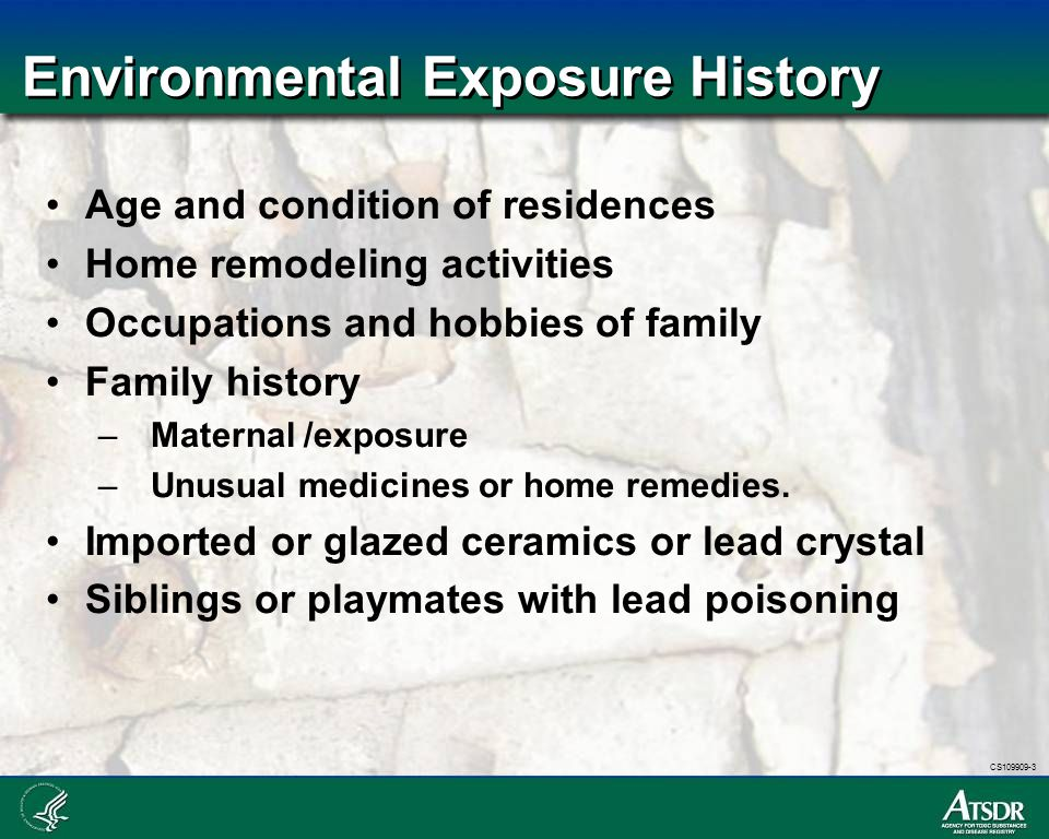 Environmental Exposure History