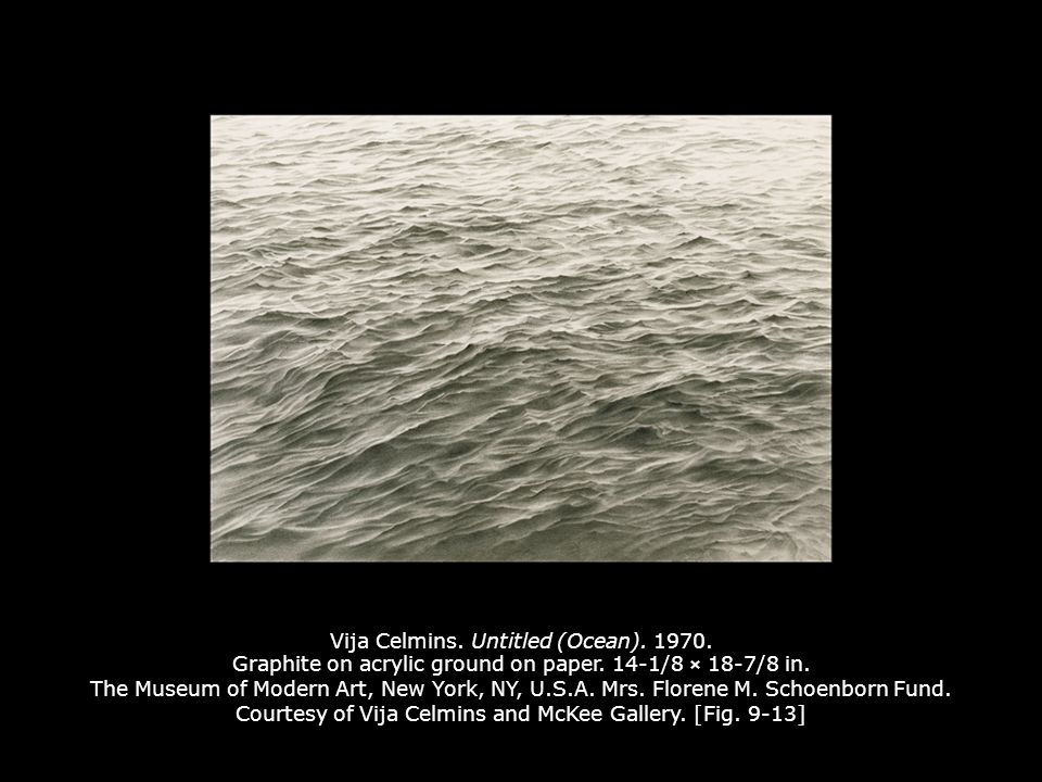 Vija Celmins. Untitled (Ocean). 1970