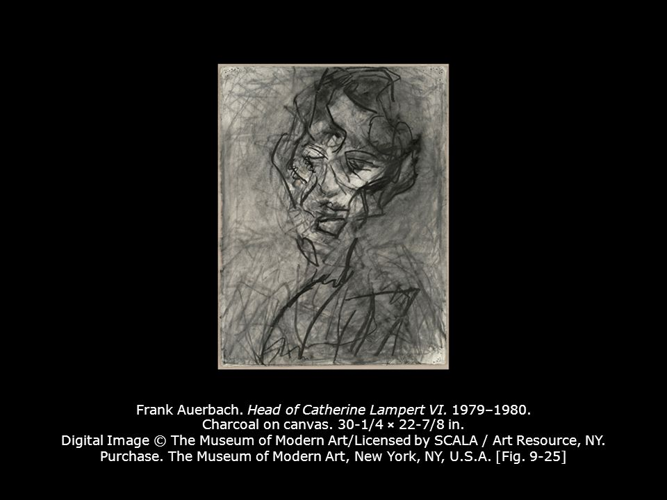 Frank Auerbach. Head of Catherine Lampert VI. 1979–1980