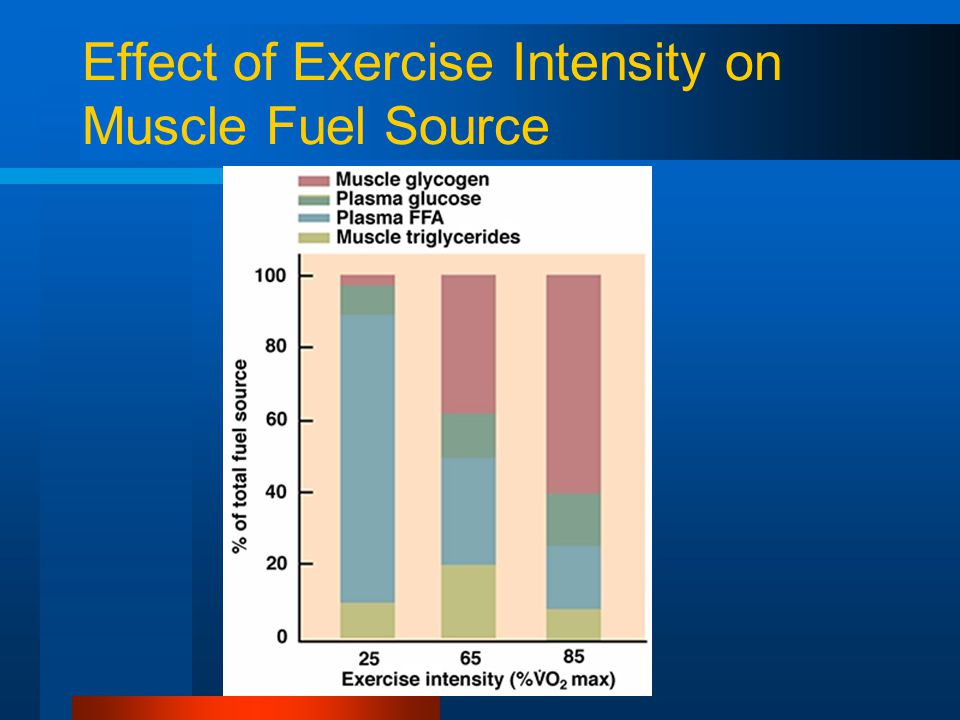 Effect of Exercise Intensity on Muscle Fuel Source