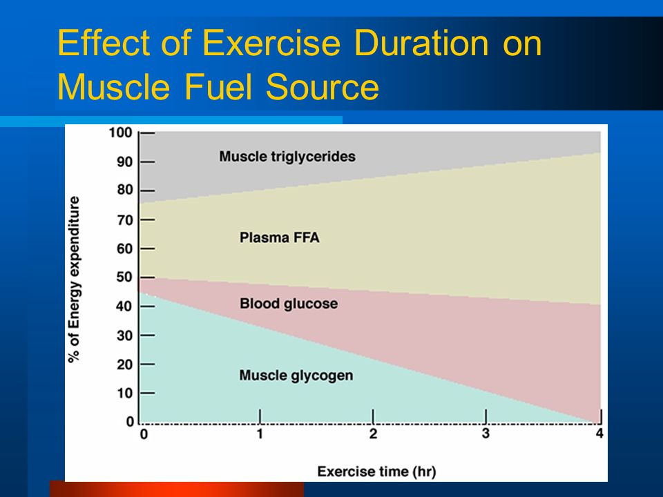 Effect of Exercise Duration on Muscle Fuel Source