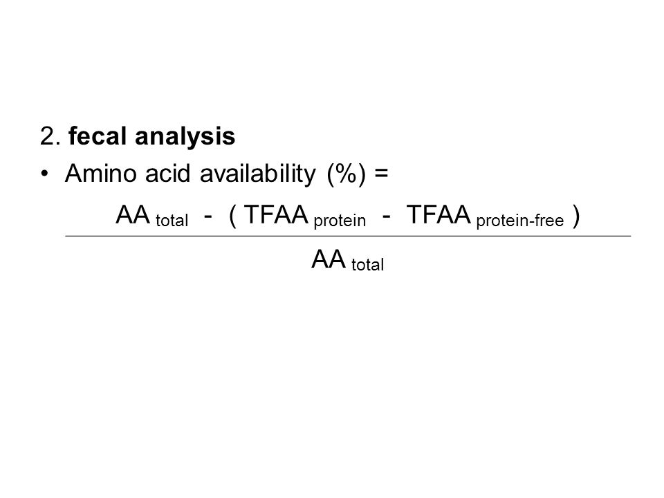 AA total - ( TFAA protein - TFAA protein-free )