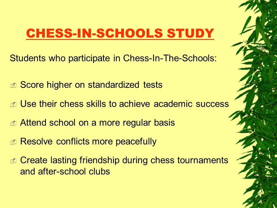 CHESS-IN-SCHOOLS STUDY