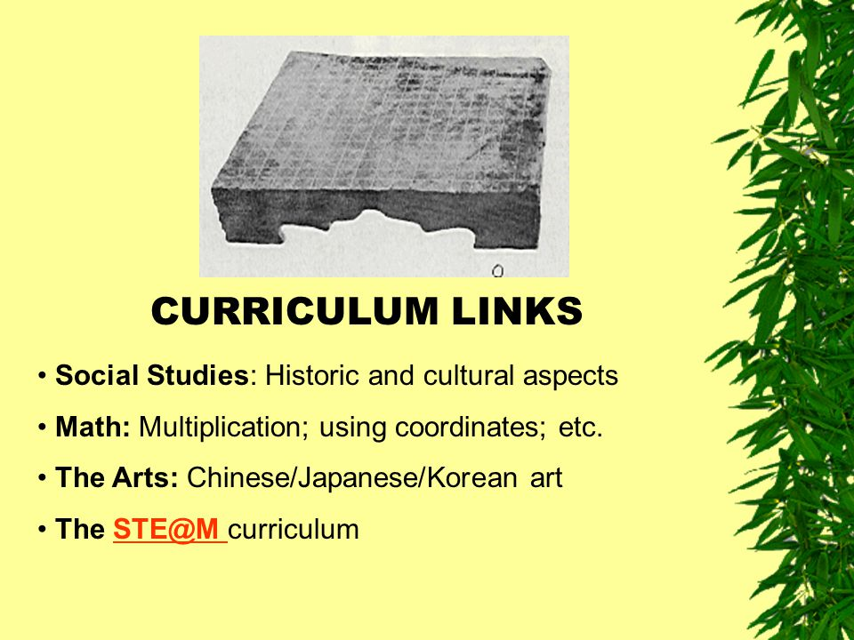 CURRICULUM LINKS Social Studies: Historic and cultural aspects