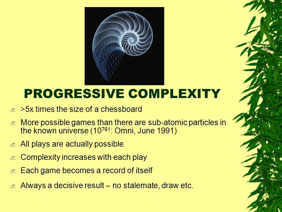 PROGRESSIVE COMPLEXITY