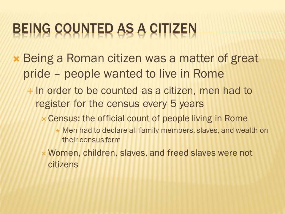 Being Counted as a Citizen