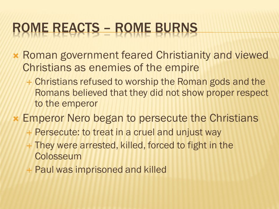 Rome Reacts – Rome Burns