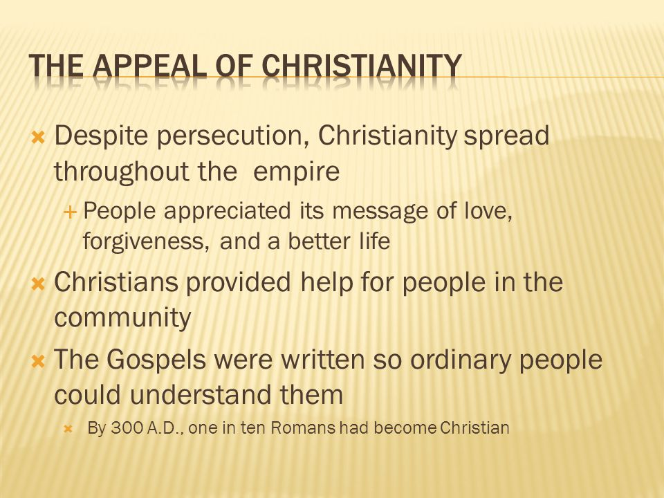 The Appeal of Christianity