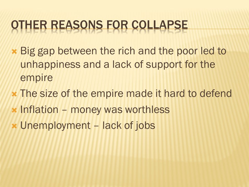 Other Reasons For Collapse