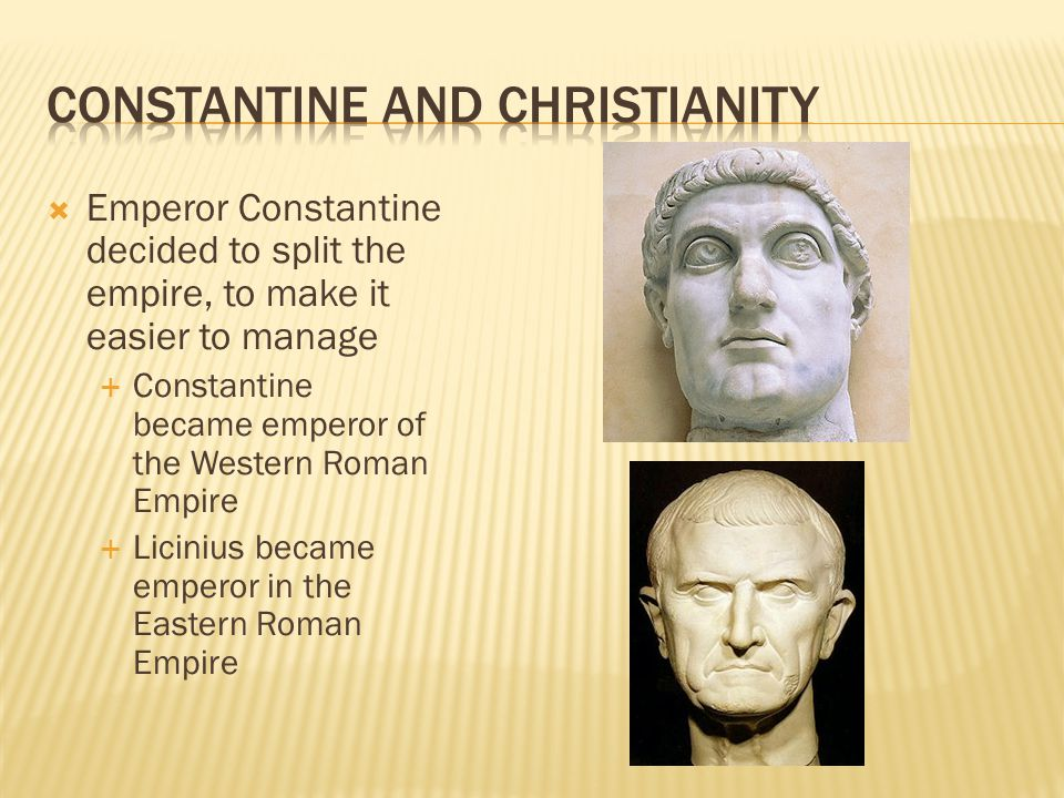 Constantine and Christianity