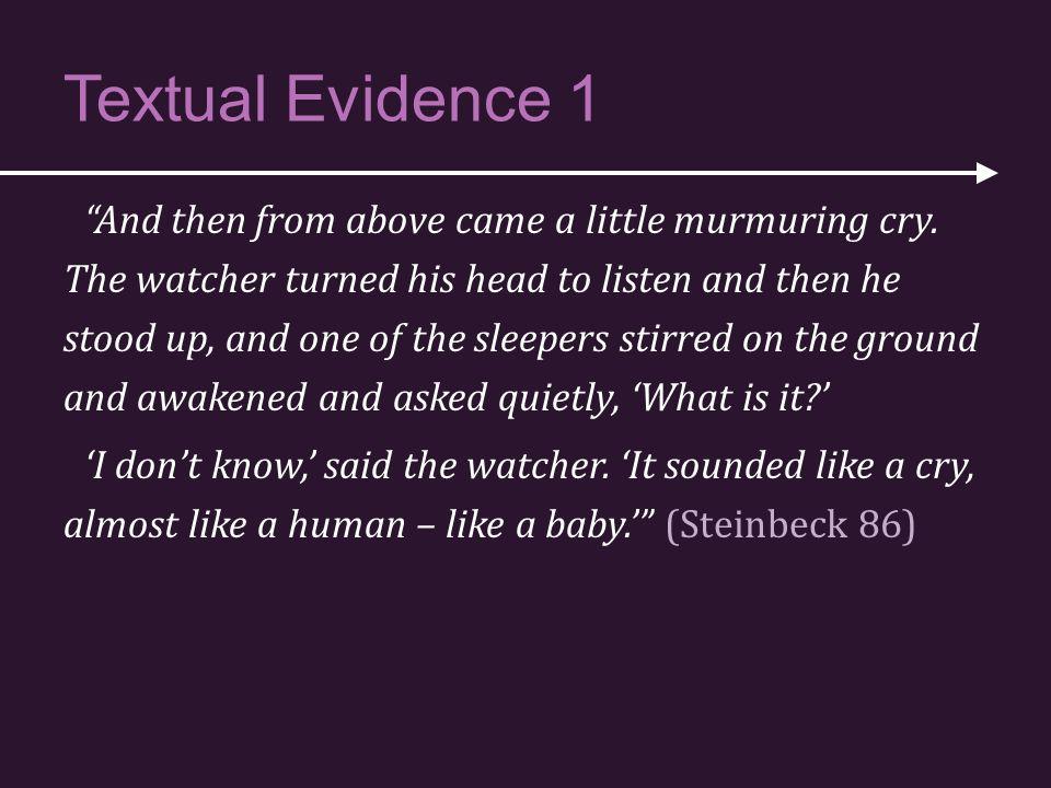 Textual Evidence 1