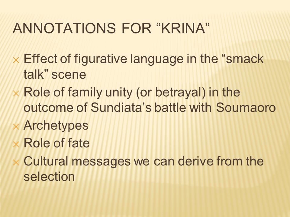 ANNOTATIONS FOR KRINA