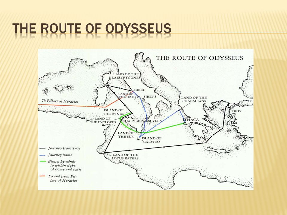 The Route of Odysseus