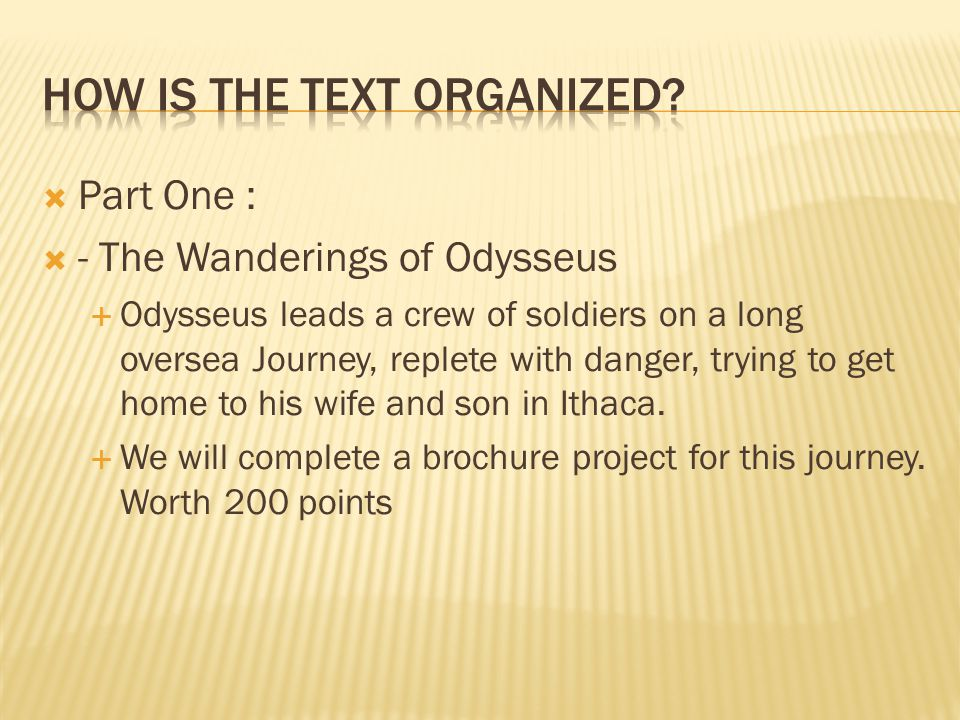 How is the text Organized