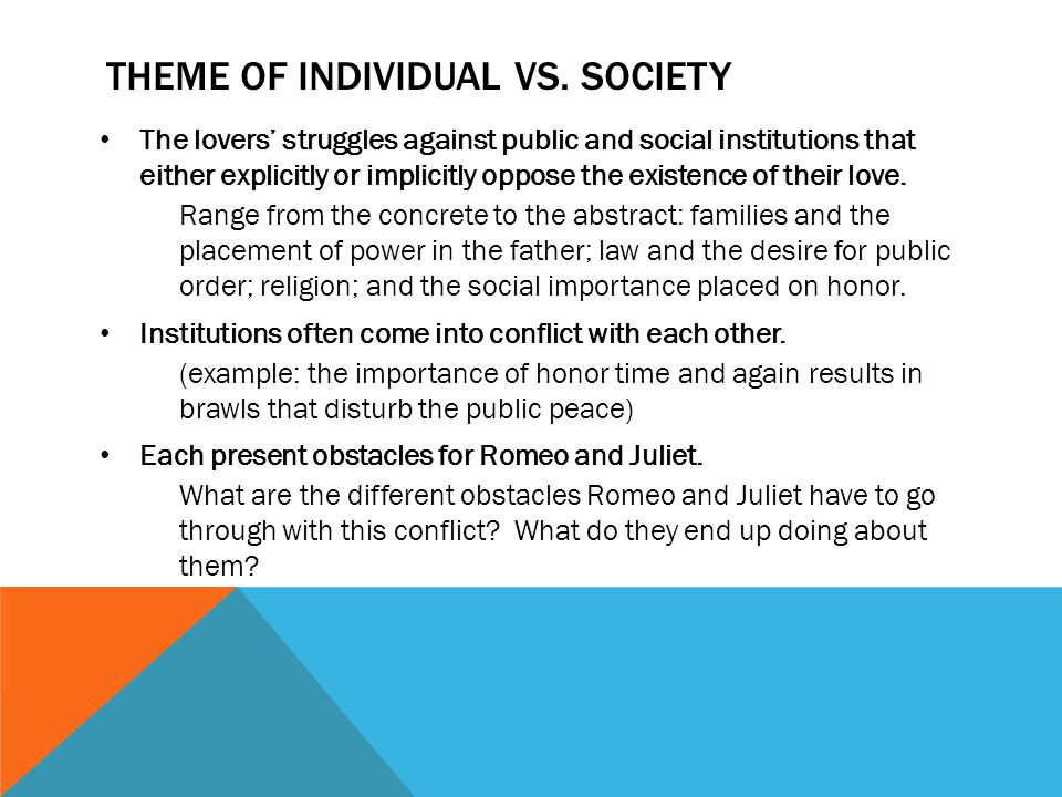 Theme of Individual vs. Society