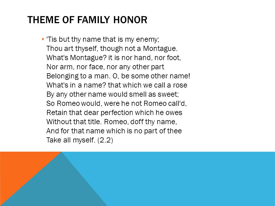 Theme of Family Honor