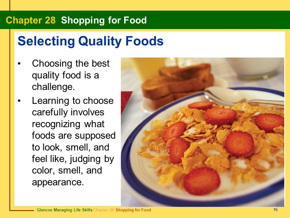 Selecting Quality Foods