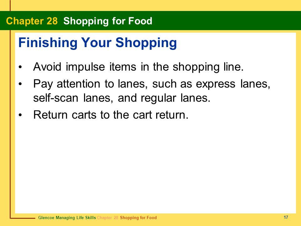 Finishing Your Shopping