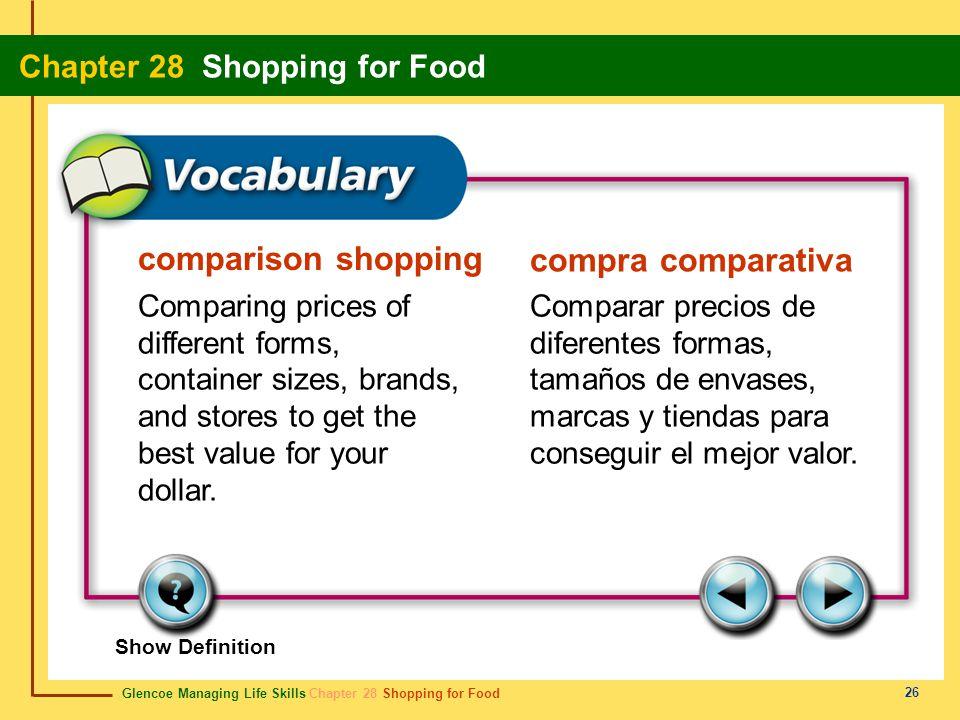 comparison shopping compra comparativa