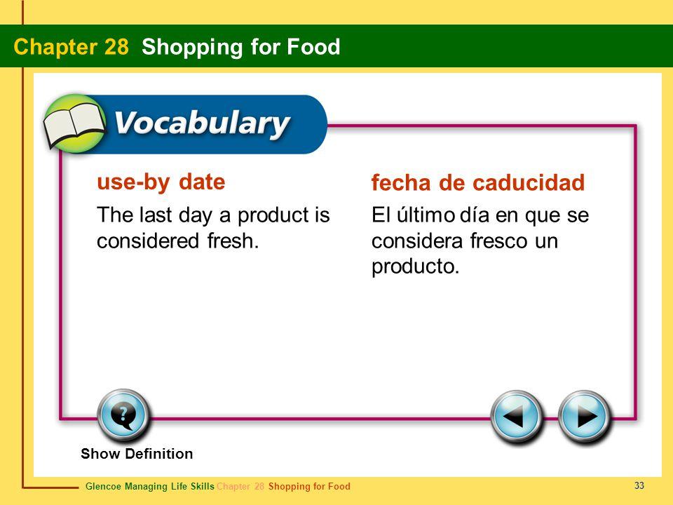 use-by date fecha de caducidad