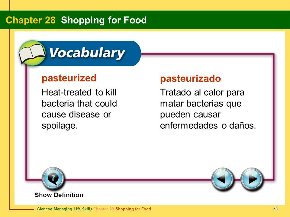 pasteurized pasteurizado