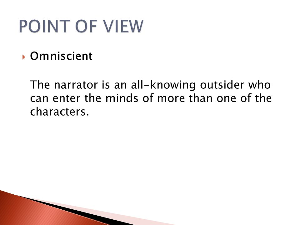 POINT OF VIEW Omniscient