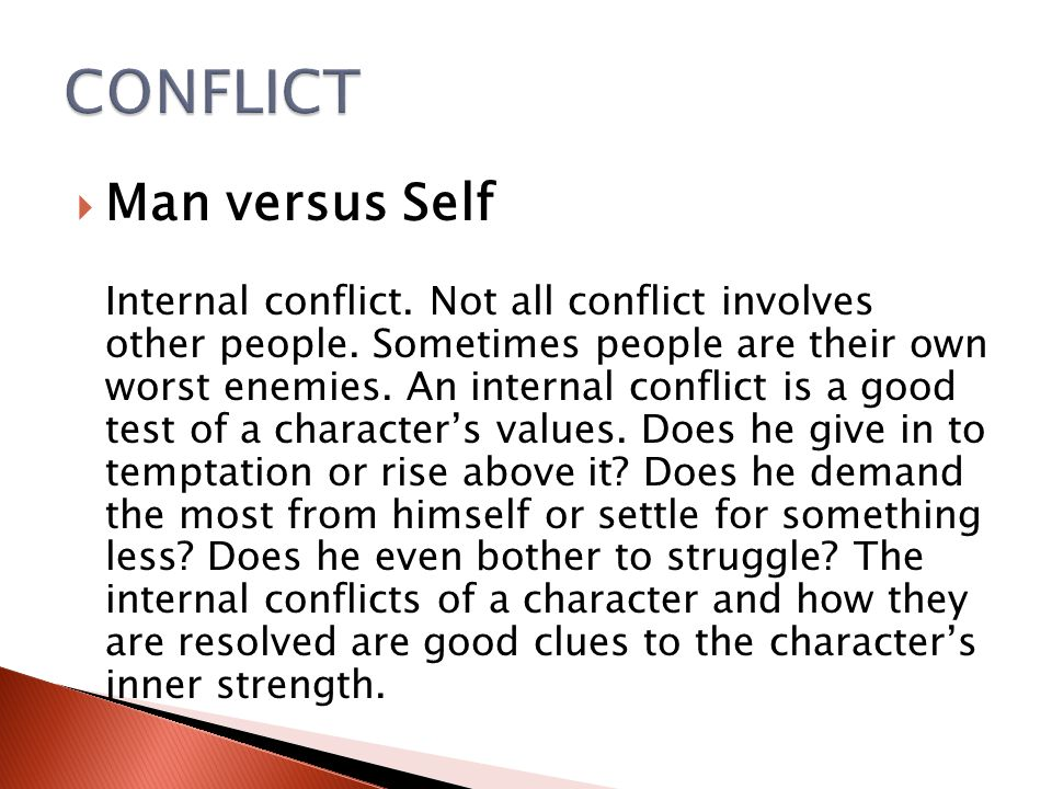 CONFLICT Man versus Self