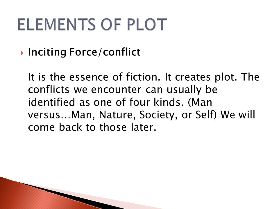 ELEMENTS OF PLOT