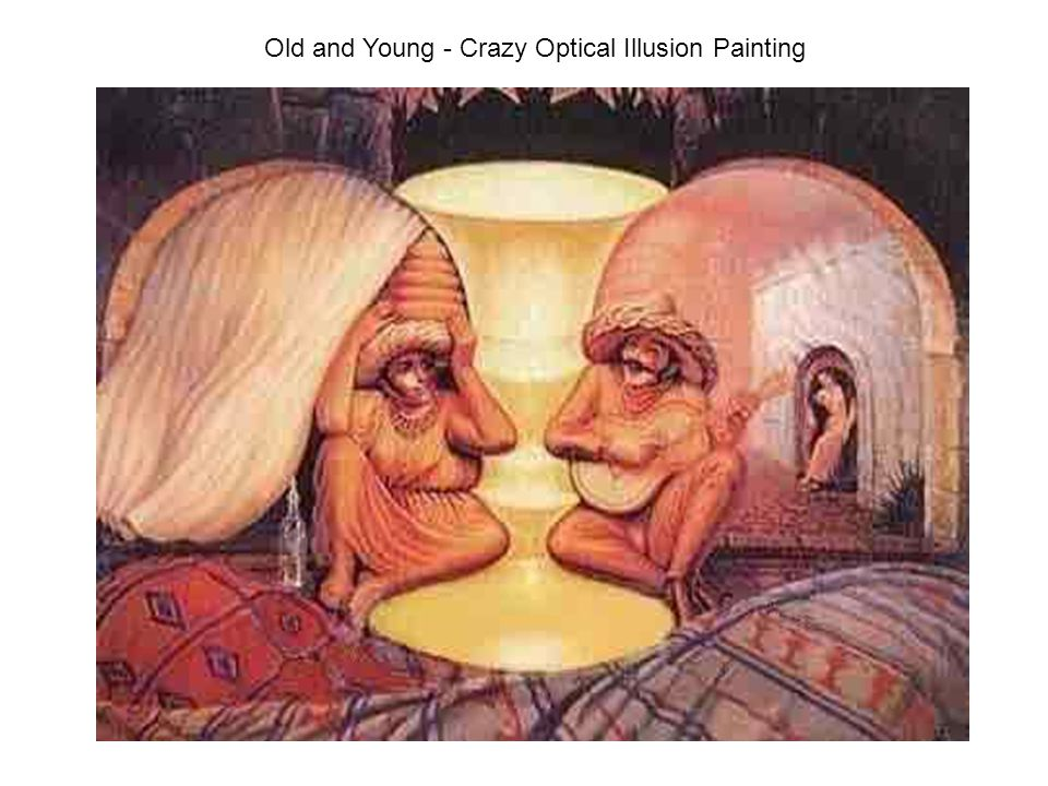 Old and Young - Crazy Optical Illusion Painting