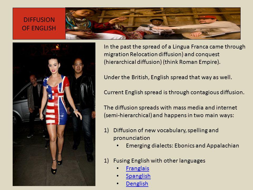 DIFFUSION OF ENGLISH.