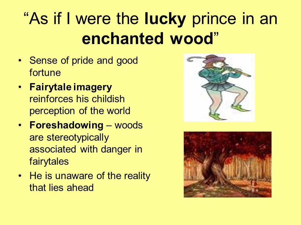 As if I were the lucky prince in an enchanted wood